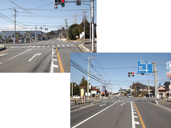 主要県道東松山越生線熊井交差点