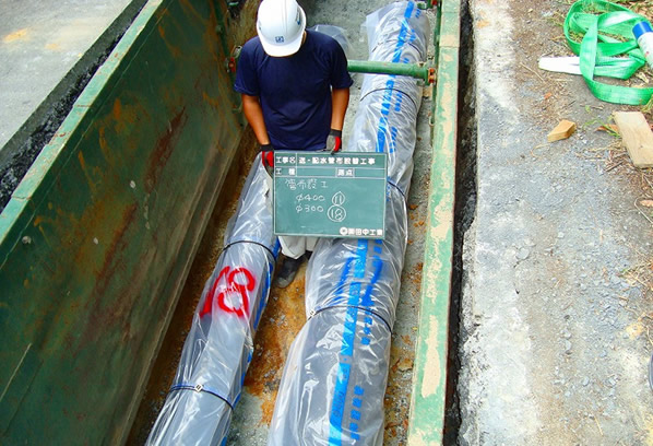嵐山平澤送配水管